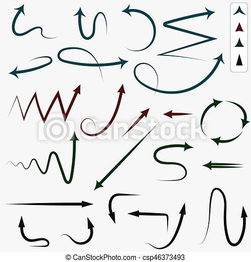 hand drawn arrows vector arrows hand drawn sketch doodle arrow