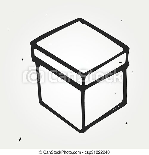hand drawn box a big vector box hand drawn box a big vector