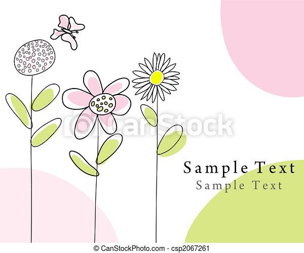 hand drawn card - csp2067261