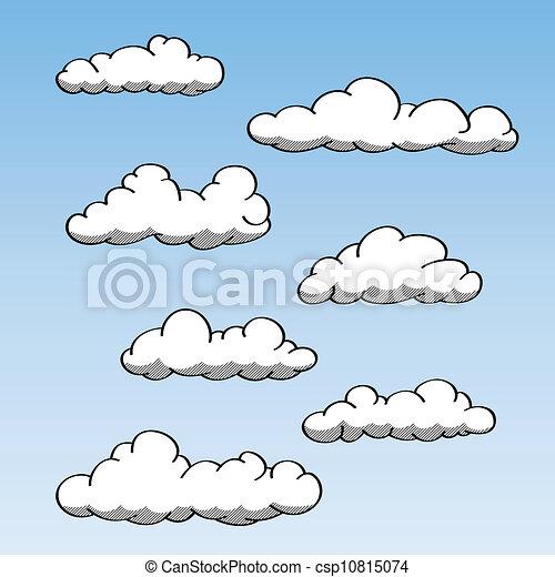 Hand Drawn Clouds - csp10815074