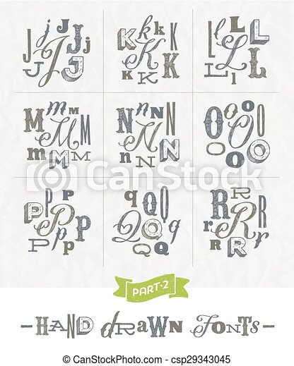 Hand Drawn Different Fonts