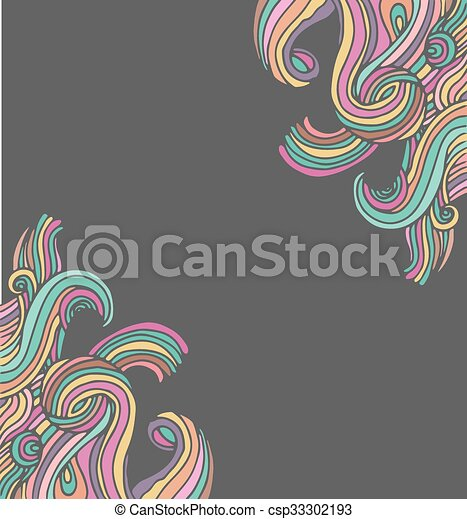 Hand drawn doodle hippie background and card hand drawn doodle hippie background csp33302193 voltagebd Choice Image