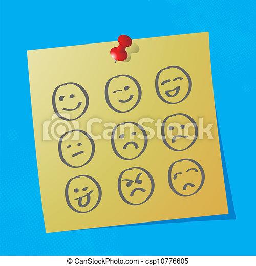 hand drawn emoticons - csp10776605