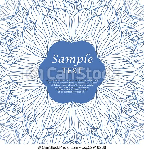 Hand Drawn Floral Frame Hand Drawn Blue Floral Frame Vector