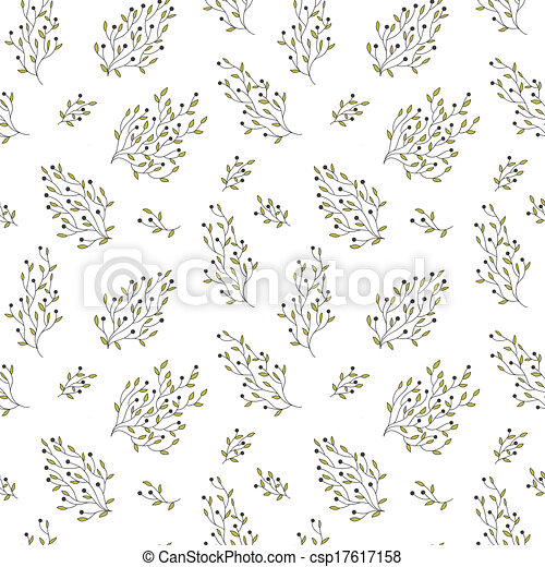 hand drawn floral seamless pattern - csp17617158