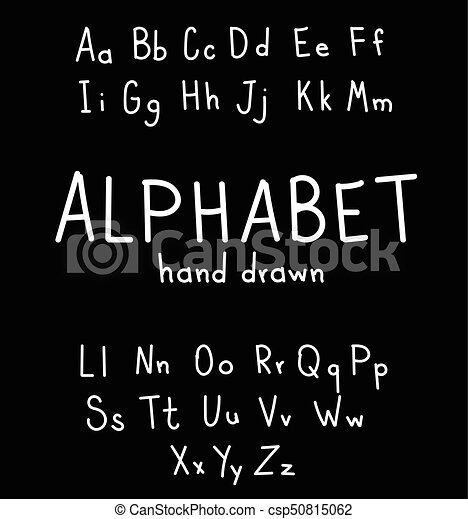 Hand Drawn Fonts Handwritten Alphabe Style Modern Calligraphy