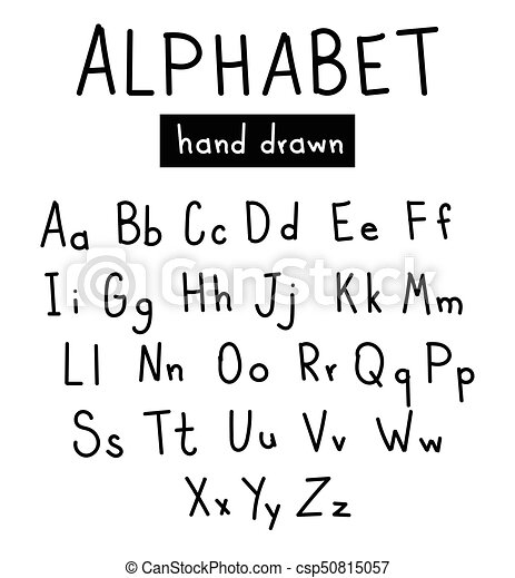 Handwritten Alphabe Style Modern Calligraphy