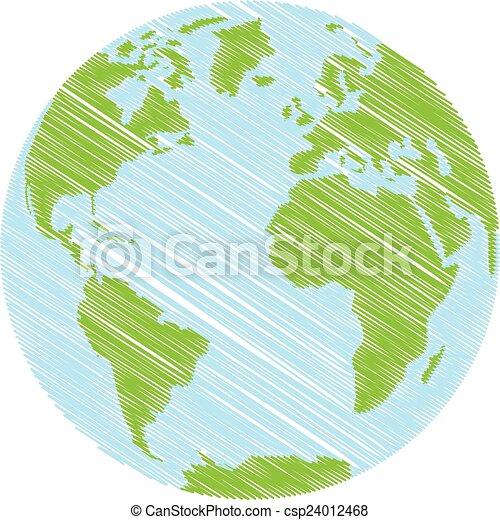 Hand drawn Globe - csp24012468
