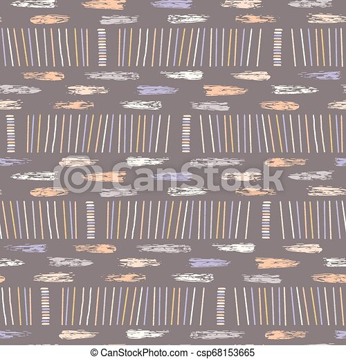 Hand Drawn Graphic Doodle Stripes Seamless Pattern Sketchy Organic Lines Texture Vector Illustration