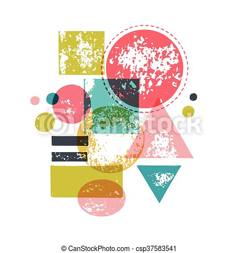 hand drawn, handcrafted, handmade stamp set and ink stains, textures, abstract shapes - csp37583541
