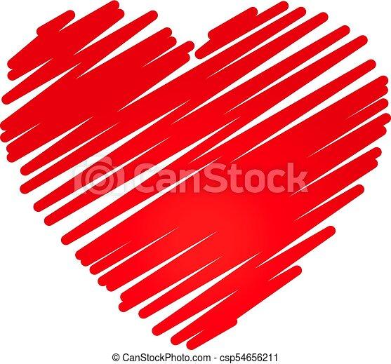 Hand Drawn Heart Design Element Hand Drawn Heart Sketch Design