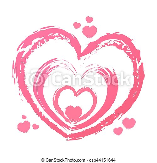 Hand Drawn Hearts Shapes Vector Stock Of Hand Drawing Love Heart