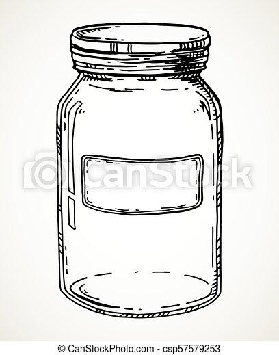 Hand drawn jar - csp57579253