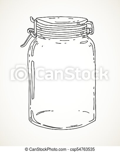 Hand drawn jar - csp54763535