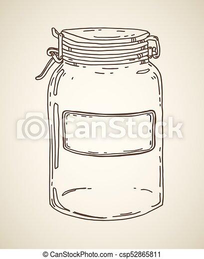 Hand drawn jar - csp52865811