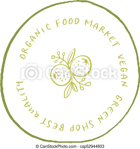 hand drawn labels and elements collection for organic food and drink natural products restaurant