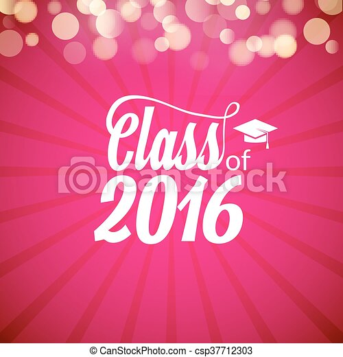 hand drawn lettering typography class of 2016 graduation icon lable