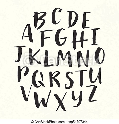Hand Drawn Modern Font Vector English Alphabet Abc Painted Letters For Typography Design