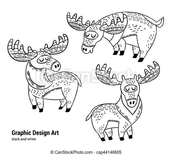 Printable Moose Coloring Pages For Kids | 411x450