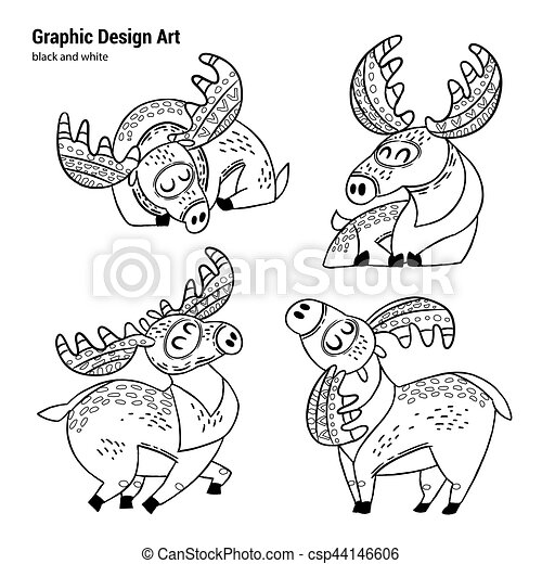 Free Printable Moose Coloring Pages For Kids | 470x450