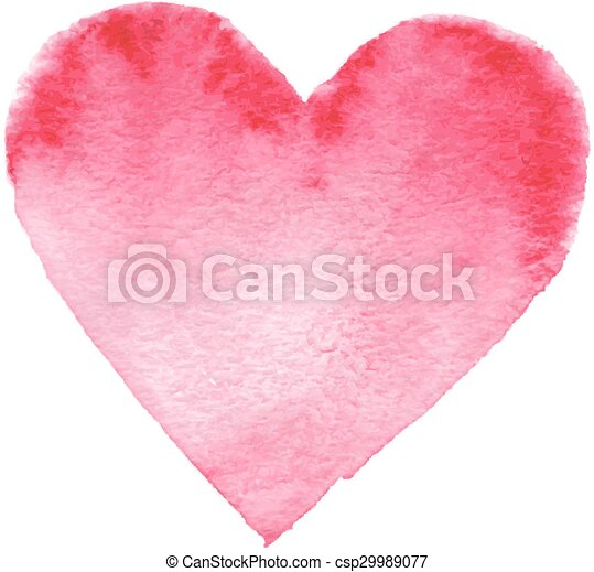 Hand-drawn painted red heart - csp29989077