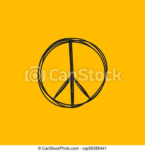 Hand drawn peace sign - csp58386441