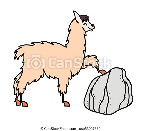 hand drawn peru animal alpaca vicuna vector illustration rh canstockphoto com alpaca clip art free alpaca cartoon clipart
