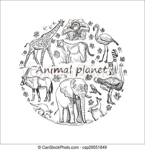 hand drawn save animal planet hand drawn save animals emblem