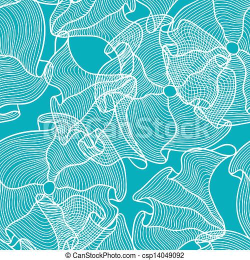 Hand drawn seamless floral pattern. - csp14049092