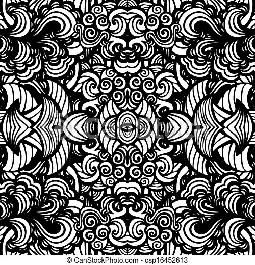 Hand drawn seamless pattern - csp16452613