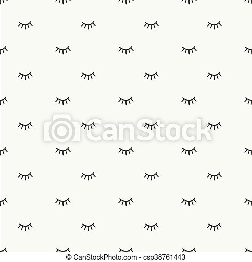 hand drawn seamless pattern with close eps vector_csp38761443 hand drawn seamless pattern with close eyes wrapping paper