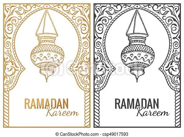 Hand drawn sketch of ramadan kareem flashlight vintage vector hand drawn sketch of ramadan kareem flashlight vintage vector background greeting arabic m4hsunfo