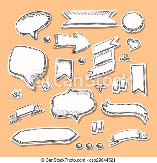 Hand drawn sketch . Vector illustration. - csp29644521
