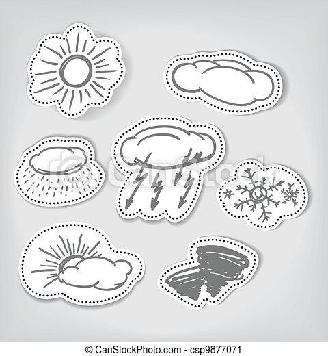Los iconos del clima hechos a mano - csp9877071