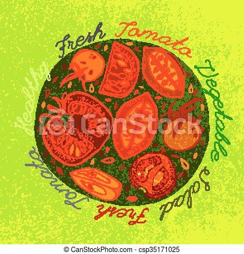 Hand drawn tomatoes - csp35171025