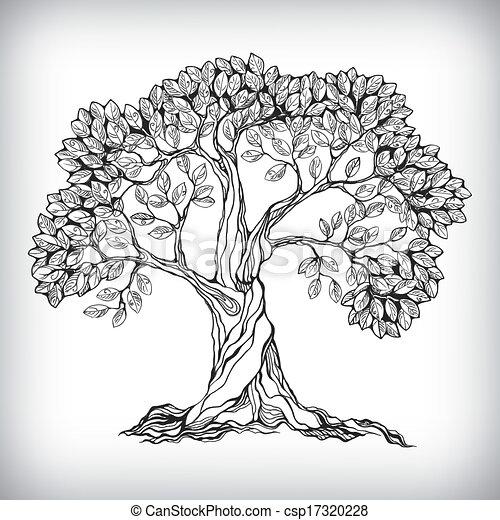 Hand drawn tree symbol - csp17320228