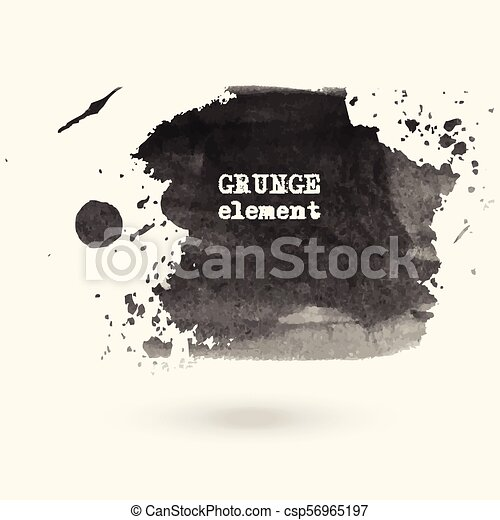 Hand drawn water ink stains. - csp56965197