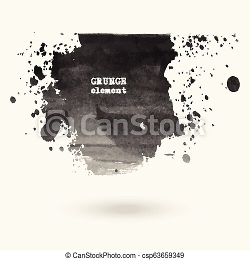Hand drawn water ink stains. - csp63659349
