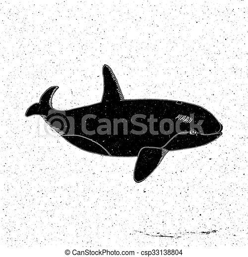 Hand drawn Whale - csp33138804