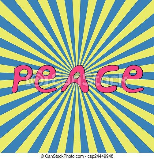 Hand-drawn word Peace for Ukraine. - csp24449948
