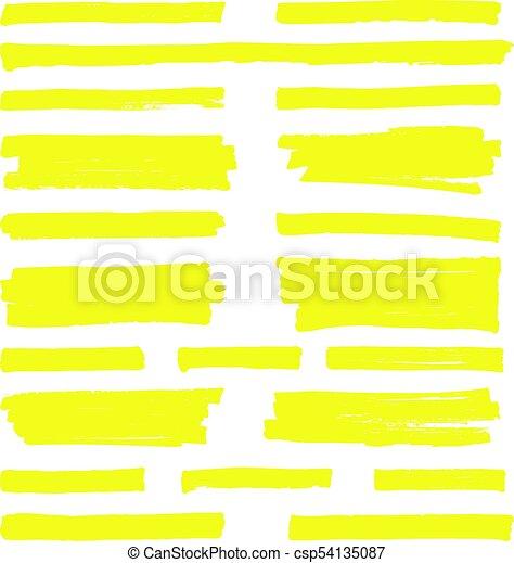 hand drawn yellow highlight marker lines highlighter strokes