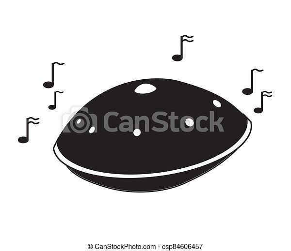 Hand drum on a white background. Cartoon. Vector - csp84606457