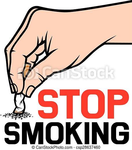 hand extinguishing a cigarette - csp28637460