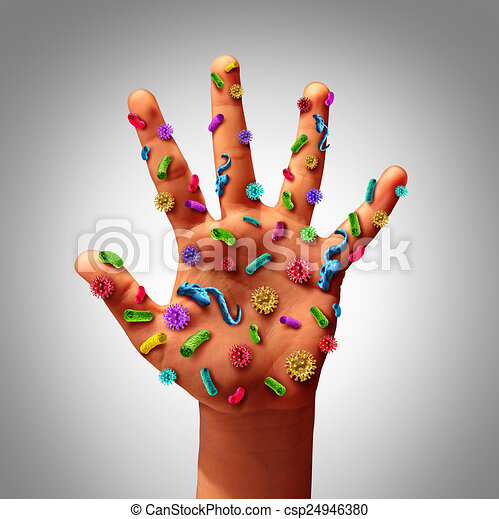 Hand Germs - csp24946380