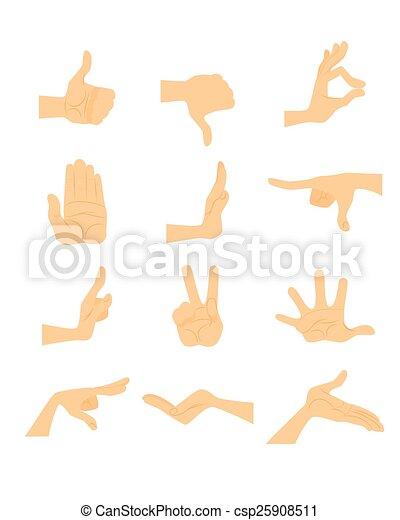 Hand gestures set - csp25908511