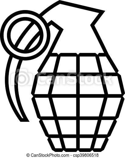 hand grenade vector vector clip art search illustration drawings rh canstockphoto com grenade vector images grenade vector icon