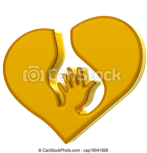 Hand Heart Symbol Protection Logo Hand Heart Symbol Of Protection