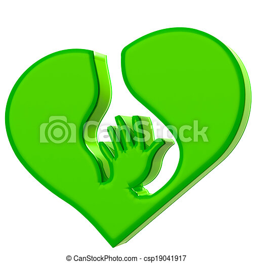 Hand Heart Symbol Protection Logo Hand Heart Symbol Of Protection