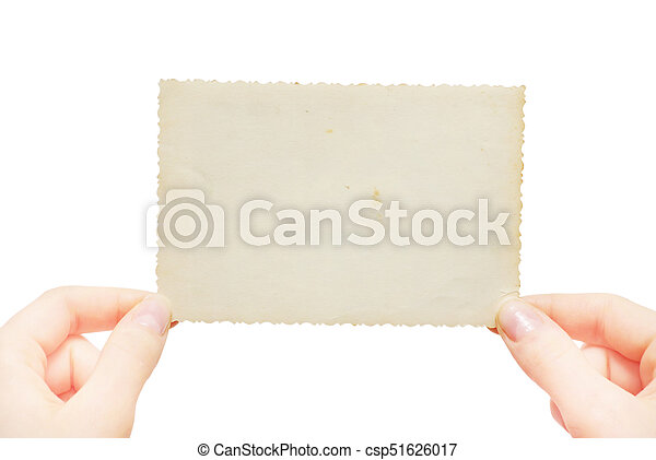Hand hold blank business card stock photography search pictures hand hold blank business card csp51626017 reheart Gallery