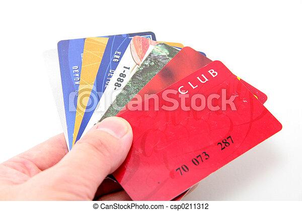 hand hold credit car - csp0211312